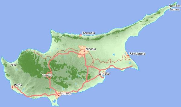 mappa interattiva Cipro